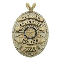 14k Yellow Gold Los Angeles Deputy Sheriff Pendant