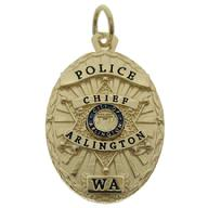 Custom police and fire badge charms and pendants