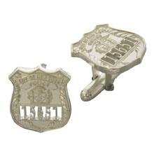 Custom NYPD cuff links in sterling silver