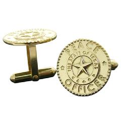 Texas Peace Officer cuff links in 14k gold