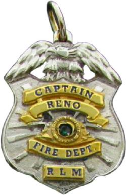 Custom police and fire fine jewelry 3D badge pendants