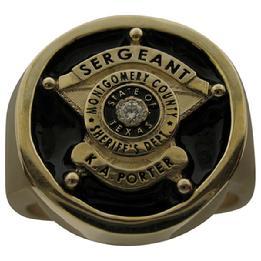 10k or 14k gold custom badge ring jewelry
