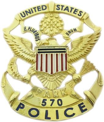6b99778f Custom U.S. Park Police badge in gold plated sterling silver.