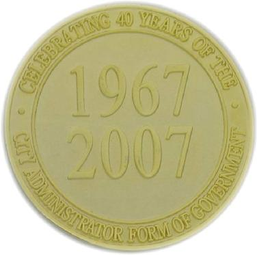 Commemorative coin struck for the City of Fort Smith, Arkansas