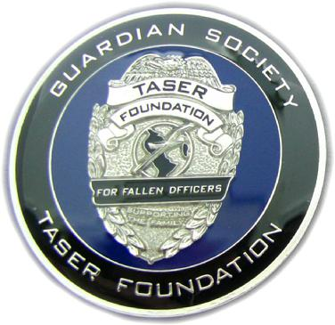Die struck coin for Taser Foundation Guardian Society