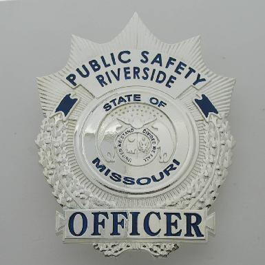custom sterling silver Riverside Public Safety Officer full size badge